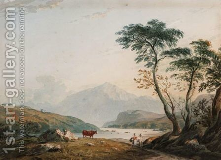 Snowdon by (after) John Varley - Reproduction Oil Painting