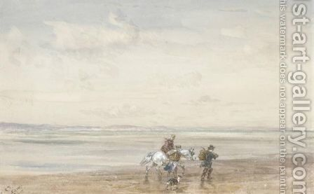 Crossing The Sands 2 by David Cox - Reproduction Oil Painting