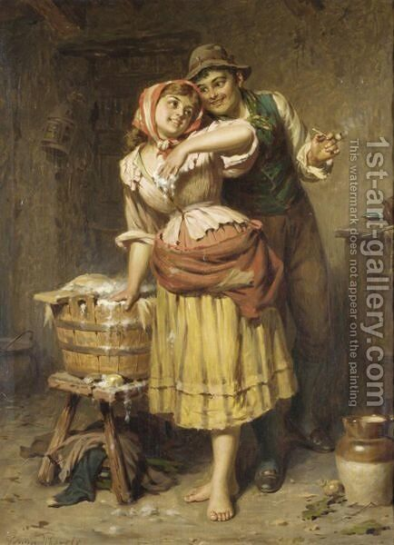 Soft Soap by Edwin Thomas Roberts - Reproduction Oil Painting