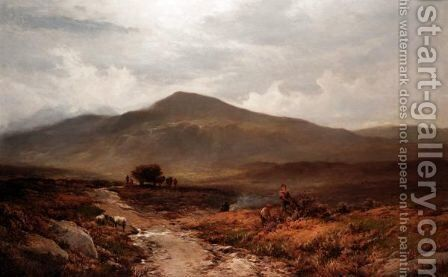 On The Moorlands Above Trefriw, North Wales by Alfred Walter Williams - Reproduction Oil Painting
