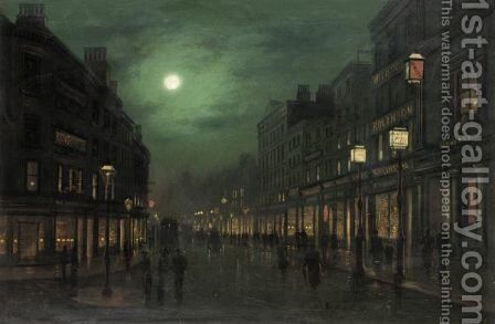 The Strand By Moonlight by Wilfred Jenkins - Reproduction Oil Painting