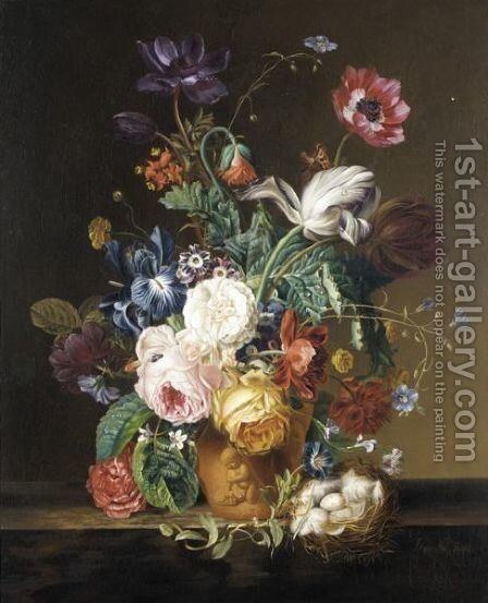 Floral Still Life by Johann Friedrich Starke - Reproduction Oil Painting