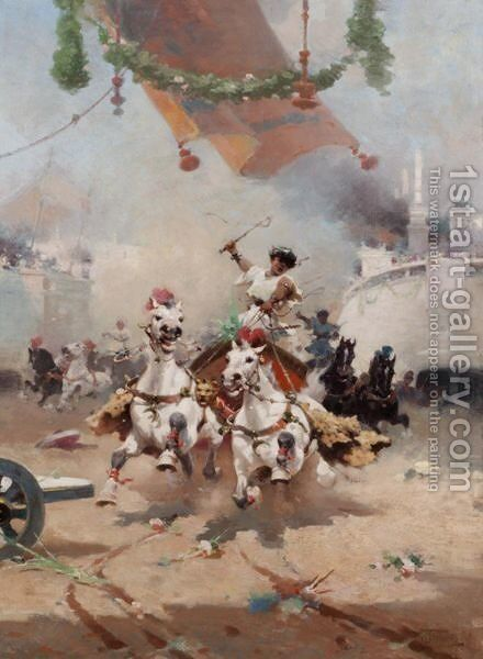 The Chariot Race by (after) Alfredo Tominz - Reproduction Oil Painting