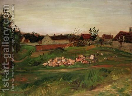 French Farm by Abraham Mintchine - Reproduction Oil Painting