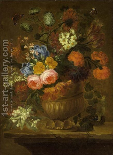 A Still Life by (after) Jan-Baptist Bosschaert - Reproduction Oil Painting