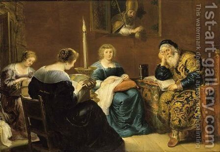 The Charity Of St. Nicholas by (after) Cornelis De Vos - Reproduction Oil Painting