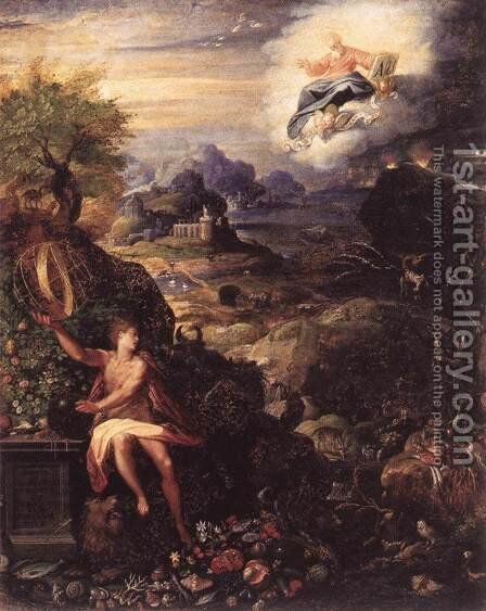 Allegory of the Creation c. 1585 by Jacopo Zucchi - Reproduction Oil Painting
