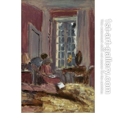 Madame Hessel Dans Sa Chambre Des Clayes by Edouard  (Jean-Edouard) Vuillard - Reproduction Oil Painting