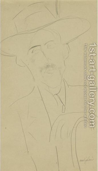 L'Homme Au Chapeau by Amedeo Modigliani - Reproduction Oil Painting
