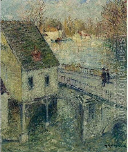 Le Pont by Gustave Loiseau - Reproduction Oil Painting