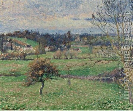 Le Pre A Eragny by Camille Pissarro - Reproduction Oil Painting