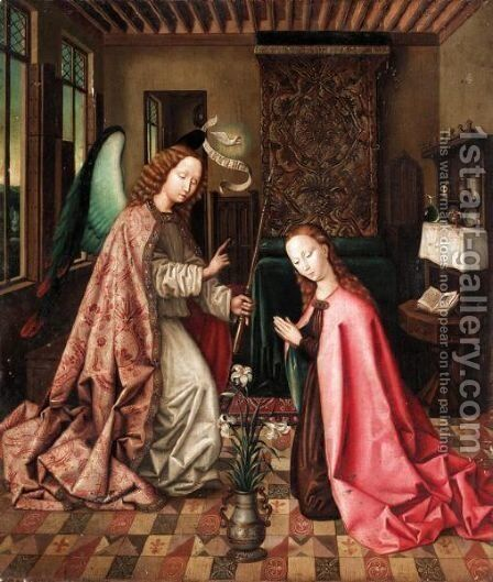 The Annunciation 2 by (after) Rogier Van Der Weyden - Reproduction Oil Painting