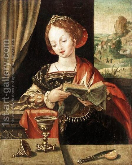 Mary Magdalene by - Unknown Painter - Reproduction Oil Painting