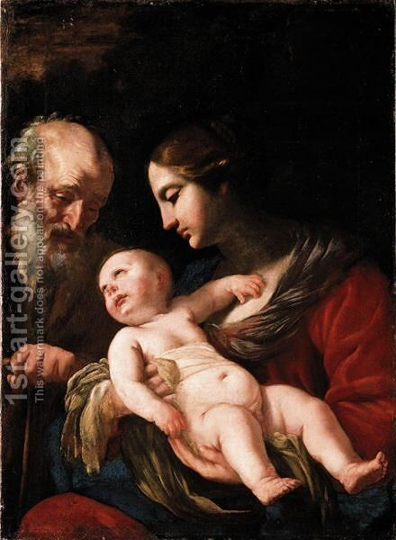 The Holy Family by Neapolitan School - Reproduction Oil Painting