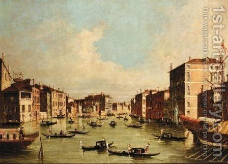 Venice, A View Of The Grand Canal by (after) Francesco Guardi - Reproduction Oil Painting