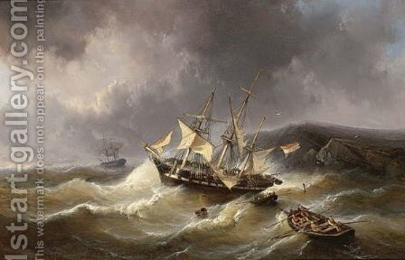 The Rescue by Christiaan Lodewijk Willem Dreibholtz - Reproduction Oil Painting