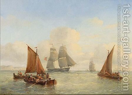 Bringing In The Nets by Christiaan Cornelis Kannemans - Reproduction Oil Painting