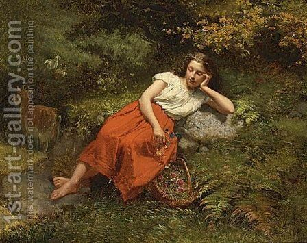 A Moment Of Rest by Theodore Gerard - Reproduction Oil Painting