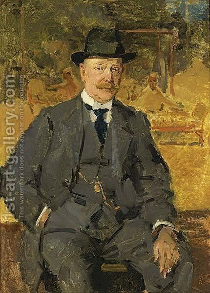 A Portrait Of The Art Dealer J. Slagmulder by Isaac Israels - Reproduction Oil Painting