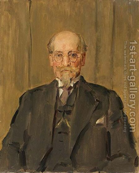 A Portrait Of Professor S.R. Steinmetz by Isaac Israels - Reproduction Oil Painting
