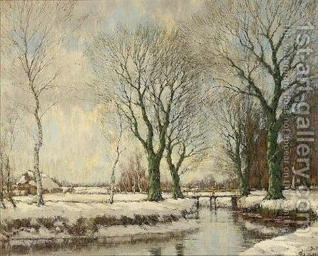 The Vordense Beek In Winter by Arnold Marc Gorter - Reproduction Oil Painting