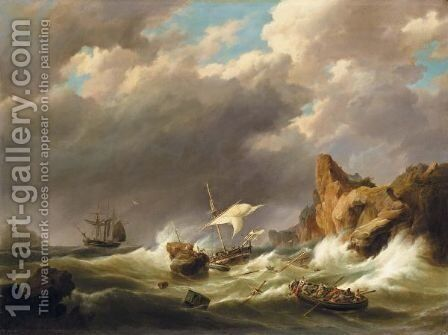 The Rescue by Hermanus Koekkoek - Reproduction Oil Painting