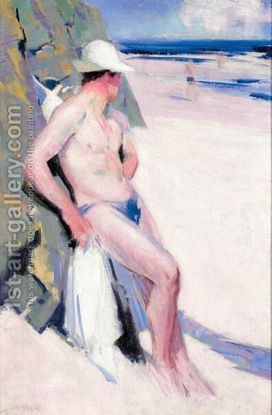 The Bather by Francis Campbell Boileau Cadell - Reproduction Oil Painting