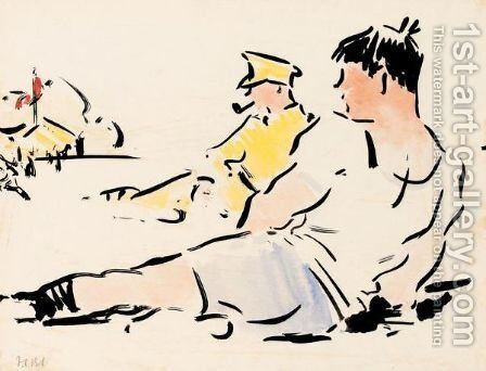 Football by Francis Campbell Boileau Cadell - Reproduction Oil Painting