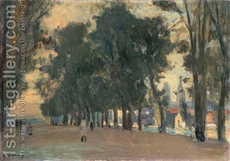 Allee Bordee D'Arbres A Rouen by Albert Lebourg - Reproduction Oil Painting