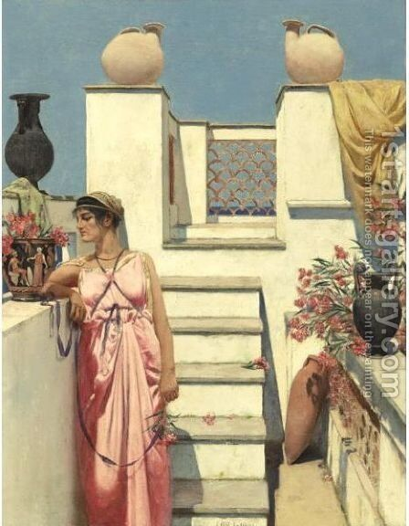 A Rooftop In Capri by Charles Caryl Coleman - Reproduction Oil Painting