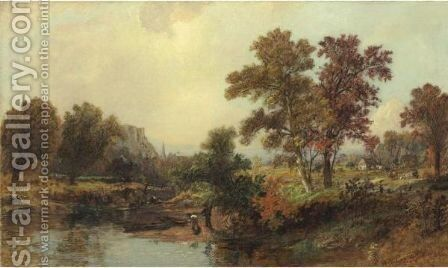 An October Day by Jasper Francis Cropsey - Reproduction Oil Painting