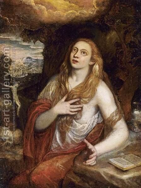 Penitent Magdalene by Domenico Tintoretto (Robusti) - Reproduction Oil Painting