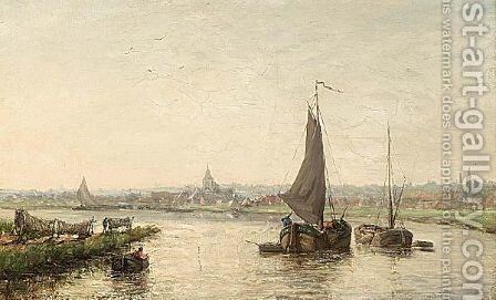 A View Of The Schelde by Henri Louis Permeke - Reproduction Oil Painting