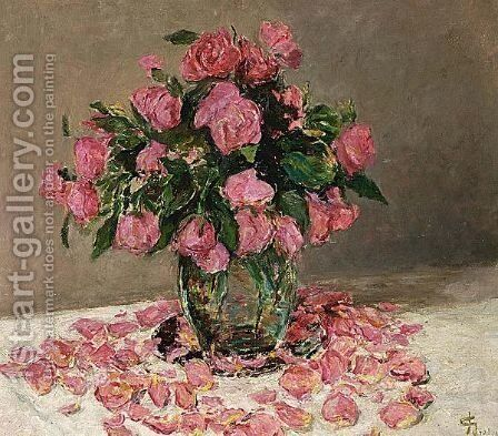 A Flower Still Life by Carel Nicolaas Storm Van 's-Gravesande - Reproduction Oil Painting