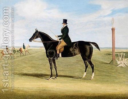 The Training Ground At Newmarket by James Pollard - Reproduction Oil Painting