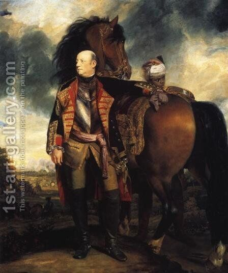Portrait Of John Manners, Marquess Of Granby (1721-1770) by Sir Joshua Reynolds - Reproduction Oil Painting