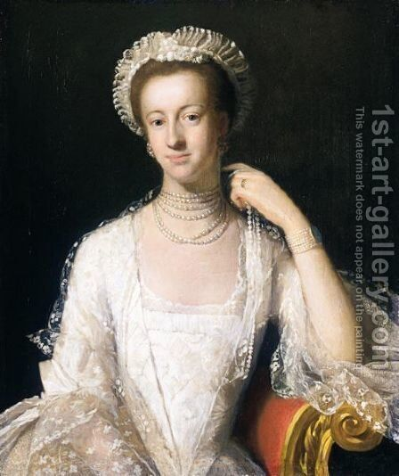 Portrait Of A Member Of The Toke Family, Possibly Susanna Milles, Wife Of John Toke, M.P. by (after) Andrea Soldi - Reproduction Oil Painting