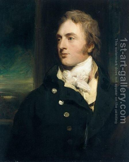 Portrait Of Sir George Cornewall, 3rd Bt. (1774 - 1835) Of Moccas Court by Sir Thomas Lawrence - Reproduction Oil Painting