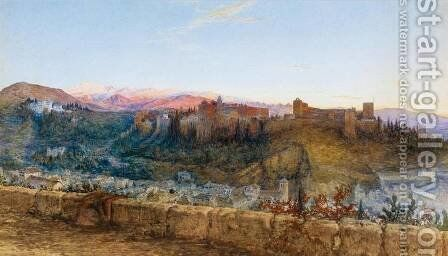 View Of The Alhambra From The North by Charles Earle - Reproduction Oil Painting