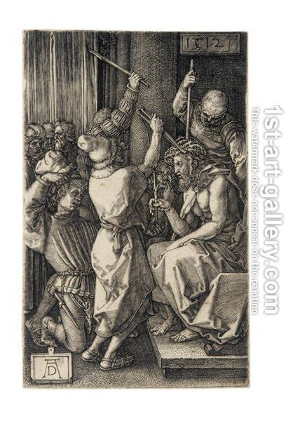 Christ Before Caiaphas 3 by Albrecht Durer - Reproduction Oil Painting