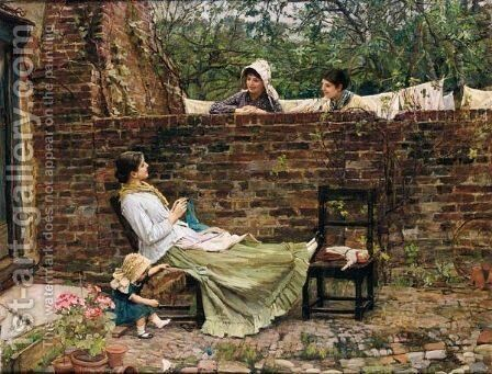 Gossip by Waterhouse - Reproduction Oil Painting