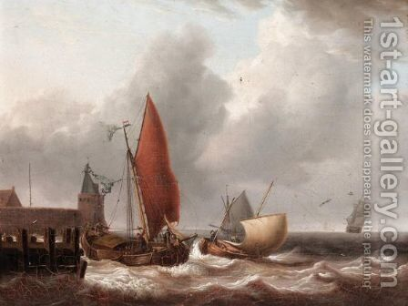 Choppy Seas by Charles Martin Powell - Reproduction Oil Painting