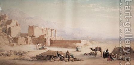 Medeenet Habu And The Plain Of Thebes by Charles Vacher - Reproduction Oil Painting