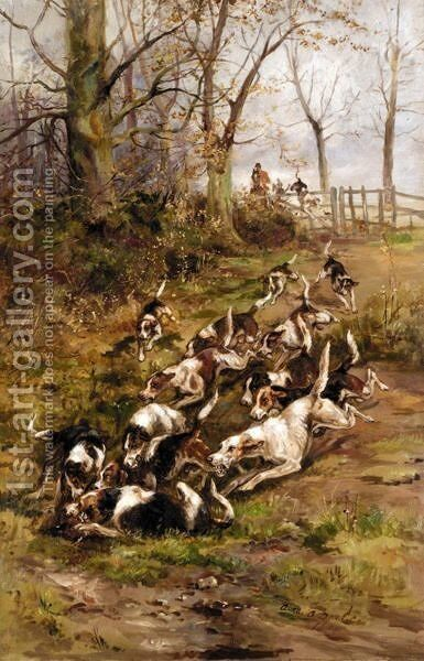 A Rattling Finish by Arthur Alfred Davis - Reproduction Oil Painting