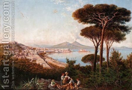 Overlooking Naples by Consalvo Carelli - Reproduction Oil Painting