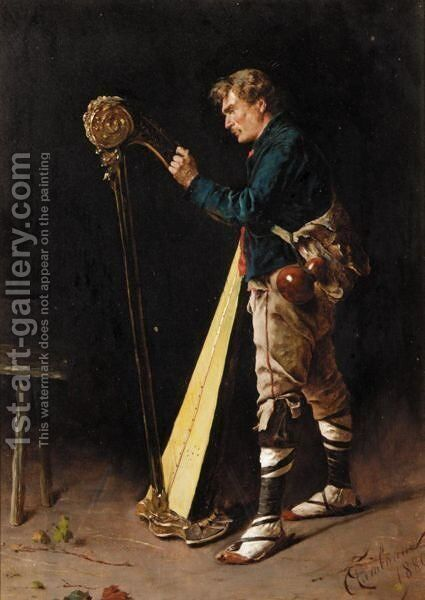 Gilding The Harp by Arnaldo Tamburini - Reproduction Oil Painting
