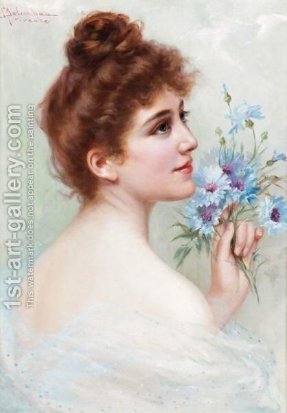 A Beauty by Adolfo Belimbau - Reproduction Oil Painting