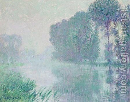 Brouillard, Effet Du Matin (Eure) by Gustave Loiseau - Reproduction Oil Painting