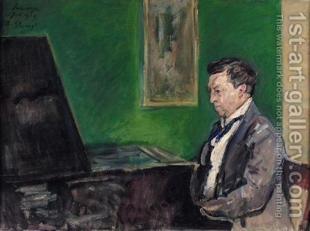 Conrad Ansorge Am Klavier (Conrad Ansorge At The Piano) by Max Slevogt - Reproduction Oil Painting