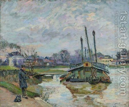 Lavoir A Charenton by Armand Guillaumin - Reproduction Oil Painting